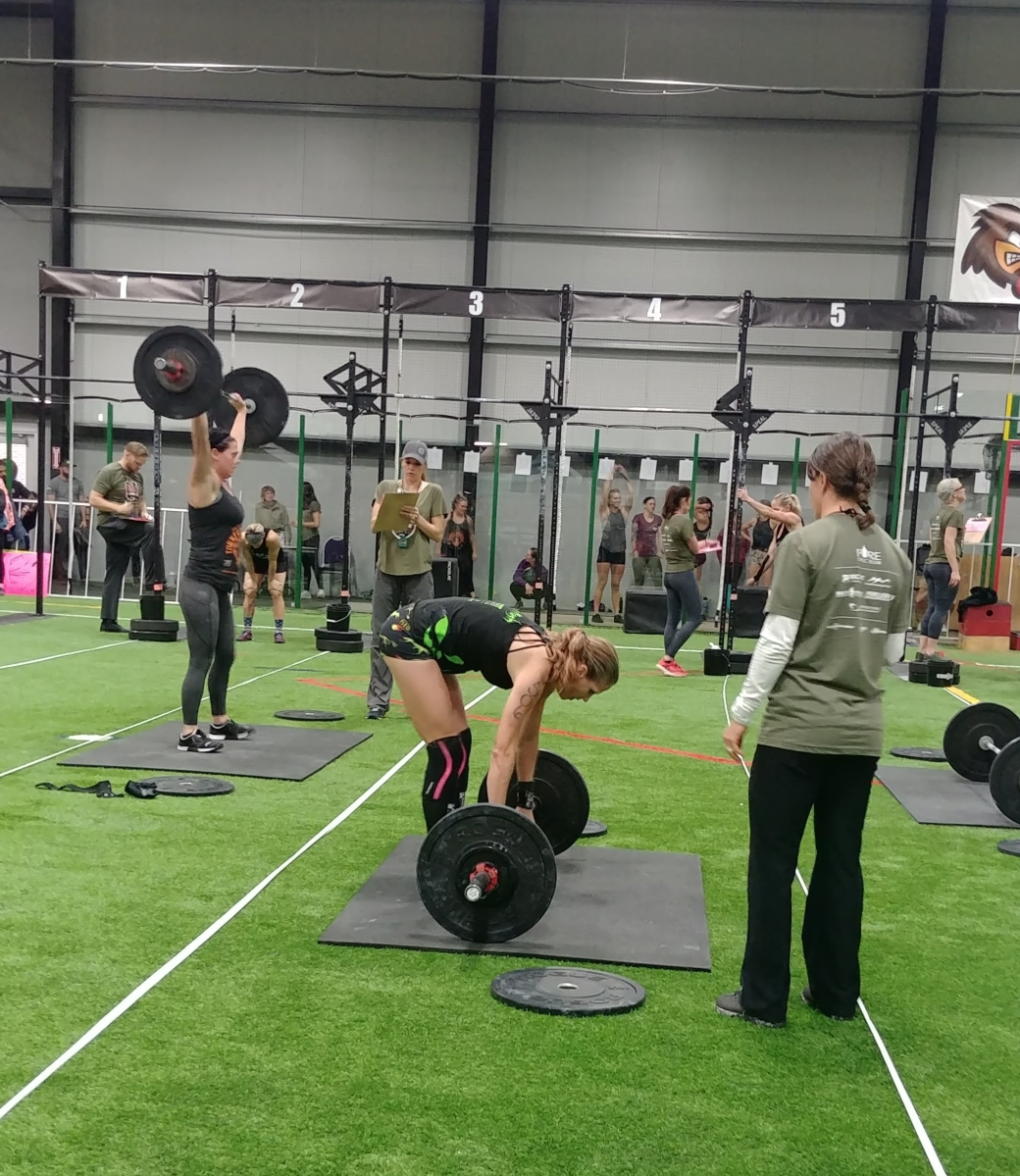 hotcrossfitchicks at local crossfit competitions in denver, co