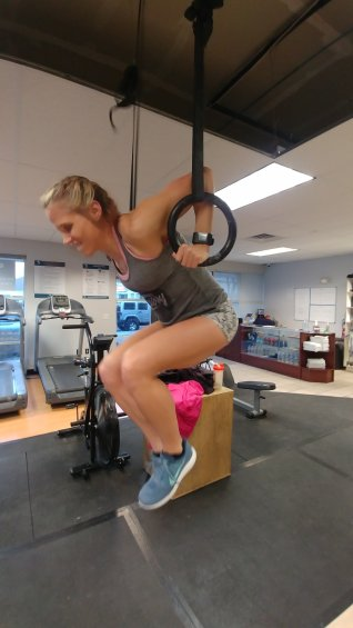 hot crossfit chicks and crossfitmomm doing crossfit ring muscle ups in colorado